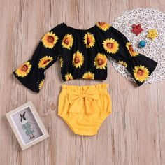 Baby Girls' Active / Basic Going out / Beach Print Print Long Sleeve Short Short Cotton / Polyester Clothing Set Yellow / Toddler Source by girl clothes Baby Girls, Cute Baby Girl Outfits, Baby Outfits Newborn, Kids Outfits, Cute Outfits, Beach Outfits, Beach Dresses, Wedding Dresses, Baby Girl Fashion