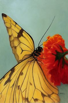 Joy Hartl - Yellow Swallowtail- Oil - Painting entry - April 2011 | BoldBrush Painting Competition