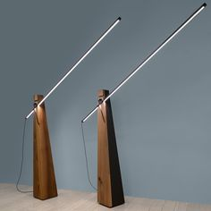 Designed by Adedio G. Cavalchini and made in Italy, the epic chivalrous inspires the Astolfo HT LED Floor Lamp, melting the ancestral and soothing structure of wood, the extreme technology of LED source and its minimal outline.