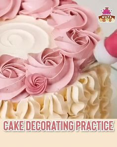 Hone your decoration skills and styles in making a fantastic cake! A handy kit that provides board and sheets to develop accuracy and skills, introducing the all-new Decorative Cake Practice Set. Cake Decorating Frosting, Cake Decorating Designs, Cake Decorating Videos, Cake Decorating Techniques, Cake Designs, Cookie Decorating, Cake Icing, Eat Cake, Cupcake Cakes
