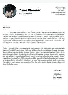 clean cover letter zane phoenixsimple cover letter application letter sample. Resume Example. Resume CV Cover Letter