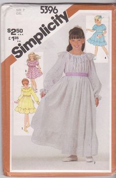 1980s vintage sewing pattern for girls ruffled by beththebooklady, $5.99