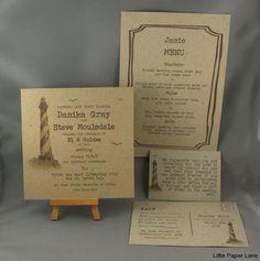 INVITATIONS lighthouse wedding invitation