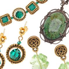 St. Patrick's Day and #Irish themed #DIY #jewelry-making & #beading projects from www.beadaholique.com - Find step-by-step instructions with free tutorials and patterns from the #Beadaholique design team #stpatricksday
