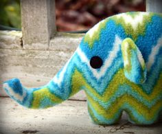 fleece elephant. $19 from Musers.