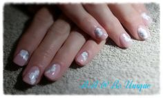 Nails done by Angelique Allegria. #pink #onestroke #flower #white #nailart #BeUnique @angiedsa