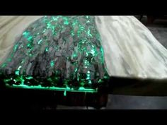 Treasure Table - Beautifull artistic table made with wood, resin and LEDs - YouTube