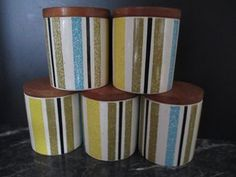Cordon Bleu Spice Cannisters for sale on Trade Me, New Zealand's auction and classifieds website Vintage Canisters, Kitchen Wood, Cordon Bleu, Spices, Porcelain, Auction, Pottery, Crown, Dining