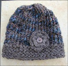 knitted hats | Altered Scrapbooking: Ladies Loom Knit Hat