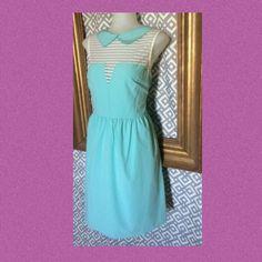 Boutique Dress; L Paiina boutique dress; tiffany blue and white lace Paiina  Dresses