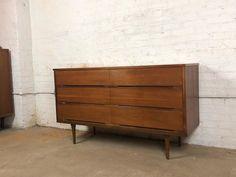 7 Stunning Mid Century Modern Dressers Under $800 | Apartment Therapy Long Dresser, 9 Drawer Dresser, Double Dresser, Drawer Unit, Dressers, Reforma Exterior, Walnut Dresser, Mid Century Modern Dresser, Changing Table Dresser