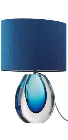 Table Lamps, Designer Modern Blue Perfume Bottle Art Glass Table Lamp, so beautiful, one of over 3,000 limited production interior design inspirations inc, furniture, lighting, mirrors, tabletop accents and gift ideas to enjoy repin and share at InStyle Decor Beverly Hills Hollywood Luxury Home Decor enjoy  happy pinning