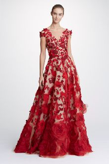 43278b2a32 Marchesa Couture Nude Illusion Tulle Neck Ball Gown M26813. District 5  Boutique