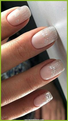 Cute and Beautiful Glitter Nail Designs Ideas For Summer Part glitter nail art; glitter nails acrylic nail art Cute and Beautiful Glitter Nail Designs Ideas For Summer Part 23 Nail Design Glitter, Glitter Nail Art, Nude Nails With Glitter, Shellac Nails Glitter, Glitter Hair, Silver Sparkle Nails, Pale Pink Nails, Glitter French Manicure, Hair And Nails