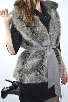 Alberto Makali Boho Faux Fur Vest $49