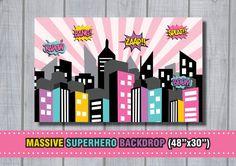 Fiesta de cumpleaños de chica gran superhéroe por RedAppleStudio