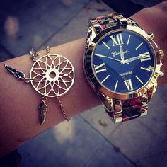 gold watch • dream catcher