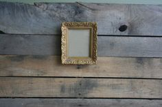 Vintage Gold Wooden Shabby Chic Picture Frame by vintapod on Etsy