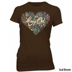 Mossy Oak Women's Heart Short-Sleeve Tee