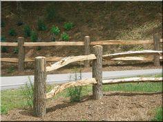 Akác rönk kerítés, karám Outdoor Projects, Garden Bridge, Fence, Outdoor Structures
