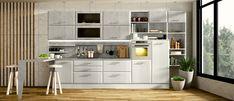 Homeplaza: Küchenmodernisierung - Überzeugende Alternative zum Neukauf (Foto: epr/Portas) Elegante Designs, Divider, Table, Room, Furniture, Home Decor, Countertop, Remodels, House