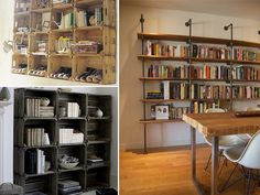 diybookshelves by apairandaspare, via Flickr