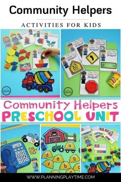Community Helpers Theme for Preschool Letter C Crafts, Preschool Letter Crafts, Preschool Christmas, Preschool Themes, Preschool Learning, Christmas Themes, Preschool Worksheets, Learning Centers, Learning Resources