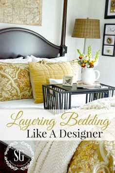 Open Your linen closet and get ready to go wild! Here is a quick visual guide on how to layer luxury bedding like a pro and spruce up Your bedroom decor. Cozy Bedroom, Master Bedroom, Bedroom Decor, Bedroom Colors, Master Suite, Bedroom Furniture, Bedroom Suites, Bedroom Ceiling, Deco Furniture
