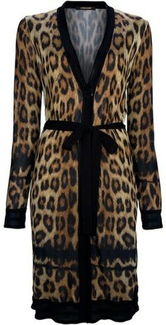CAVALLI Leopard Print Dress - Lyst