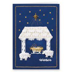 Satin Nativity Christmas Card, Set of 20 Christian Christmas Cards, Religious Christmas Cards, Personalised Christmas Cards, Drake, Affordable Home Decor, Organizer, Nativity, Interior Decorating, Card Making