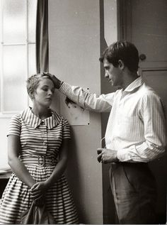 Breathless, directed by Jean-Luc Godard and starring Jean-Paul Belmondo and Jean Seberg