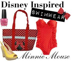 disney inspired swimsuits | Minnie Mouse by Disney Inspired SwimwearJ Crew underwire bathing suit ...