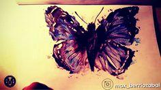 Mariposa acuarela.