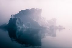ICEBERGS IN FOG, Greenland by Jan Erik Waider, via Behance