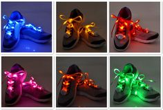 Amazon.com: 6 Pairs LED Nylon Shoelaces Light Up Shoe Laces with 3 Modes in 6 Colors Disco Flash Lighting the Night for Party Hip-hop Dancing Cycling Hiking Skating: Home & Kitchen