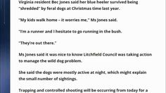 Australia: Contractor hired to trap and shoot feral dogs in Virginia