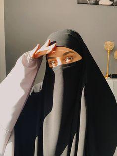 Niqab Fashion, Modest Fashion Hijab, Modern Hijab Fashion, Hijab Fashion Inspiration, Muslim Fashion, Fashion Outfits, Mode Abaya, Mode Hijab, Hijab Dp