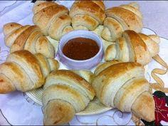 طريقه عمل الكروسان  How to make croissants