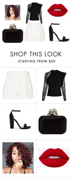 """Untitled #17"" by lineocarol on Polyvore featuring Elie Saab, self-portrait, Steve Madden and Jimmy Choo"