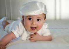 White Satin Newsboy/Golfer/Tam/Flat Top/Drivers Boy Christening Baptism/Blessing Cap/Hat Made to Order via Etsy