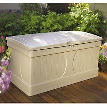 Suncast 99-gallon Deck Box, Cream