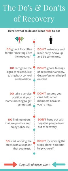 The Do's & Don'ts of 12 Step Recovery Learn what to avoid in 12 step recovery and how to deepen relationships with tools for healthy communication and self-care. Knowing when you get extra support is critical to keep your serenity. Click the image to read Addiction Help, Addiction Recovery, Addiction Therapy, Addiction Alcohol, Gambling Addiction, Recovery Quotes, Sobriety Quotes, Quotes Quotes, Crush Quotes