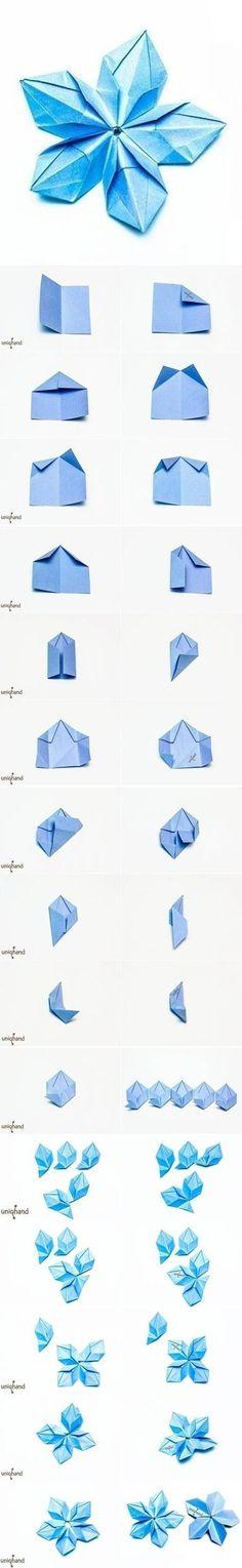 Origami Modular Rose Mandala Instructions / Origami Instruction