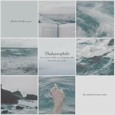 listen to the ocean Witch Aesthetic, Aesthetic Collage, Character Aesthetic, Blue Aesthetic, Badass Aesthetic, Collages, Architecture Art Design, Sea Witch, Mood Boards