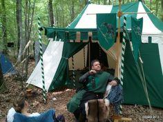 Medieval  Tents at a Fantasy LARP