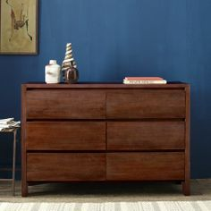 "SPECIAL $1,019.00 Boerum 6-Drawer Dresser - Café | west elm 54""w x 18""d x 36""h. also available 3 drawer SPECIAL $ 764.00"