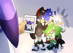 If I would be taking the pic I would say  Me: say hedgehog  All: HEDGEHOG  Me:Scourge,  Scourge: what Me: finger DOWN  Scourge:  but chicks like you like it  Me: Wait there more like me WERE