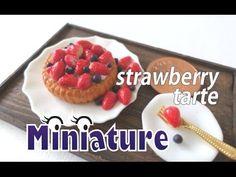 미니어쳐 딸기 토핑&블루베리 토핑 타르트 만들기/Miniature strawberry(topping) tart /ミニチュア イチゴ タルト - YouTube