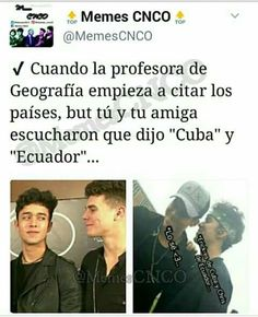 Discover images and videos about Cnco from all over the world on We Heart It. Memes Cnco, Best Memes, I Love You All, My Love, My Life Quotes, Cheer You Up, Boy Bands, Laughter, Lol