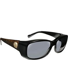 65a6b4389a Haven Dahlia Leopard Fits Over Sunglasses w  Cleaning Cloth Oval Sunglasses